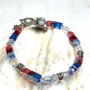 Swarovski Crystals Multicolored Bracelet New